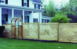 "2"" Diamond Lattice Fence Panels with Arbor Gate"