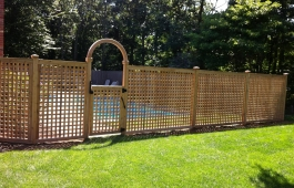 "2"" Square Lattice with Arbor Gate"