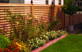 "2"" Square Lattice Fence Panels"