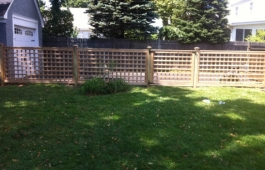 "4"" Square Lattice Fence Panels and Gate"