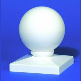 """WHOLESALE CASE OF 45 PVC DOME POST CAPS 5"""" SEAMLESS"""