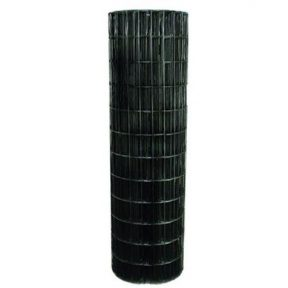 WELDED WIRE YARD GUARD FENCE BLACK VINYL COATED 1.5″ x 4″, 4' HIGH x 100' 14ga