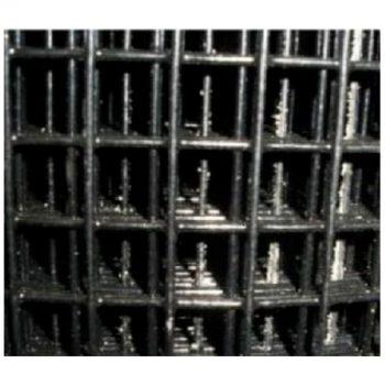 WELDED WIRE YARD GUARD FENCE BLACK VINYL COATED 1″ x 1″, 4' HIGH x 50' 16ga