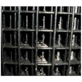 WELDED WIRE YARD GUARD FENCE BLACK VINYL COATED 1″ x 1″, 6' HIGH x 50' 16ga