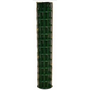 WELDED WIRE YARD GUARD FENCE GREEN VINYL COATED 2″ x 4″, 4' HIGH x 50' 14ga
