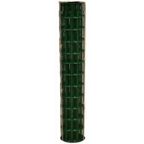 WELDED WIRE YARD GUARD FENCE GREEN VINYL COATED 2″ x 4″, 5' HIGH x 50' 14ga