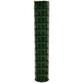 WELDED WIRE YARD GUARD FENCE GREEN VINYL COATED 2″ x 4″, 6' HIGH x 50' 14ga