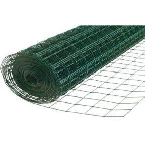 WELDED WIRE YARD GUARD FENCE GREEN VINYL COATED 3″ x 2″, 4' HIGH x 50' 16ga