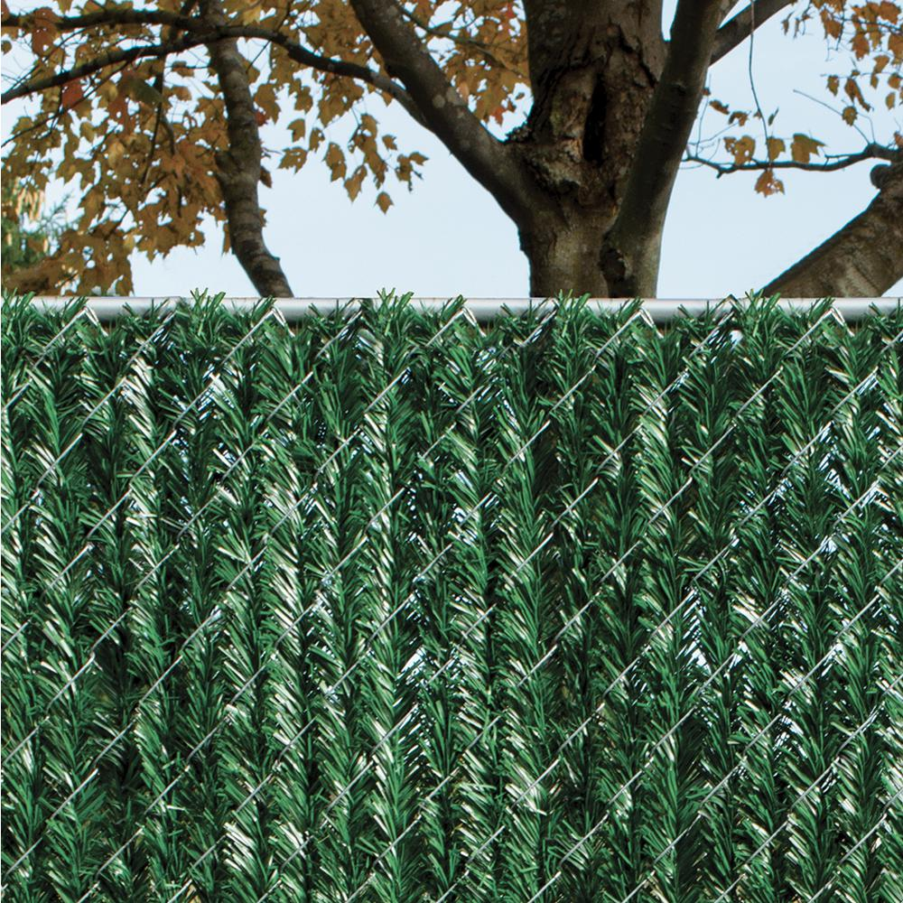 PRIVACY HEDGE SLATS FOR 4' HIGH CHAIN LINK FENCE 10' LINEAR FOOT COVERAGE