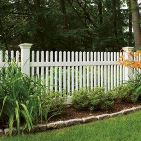 PVC Louisville Victorian Picket Fence-Straight