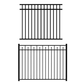 PVC Louisville Victorian Picket Fence-Straight