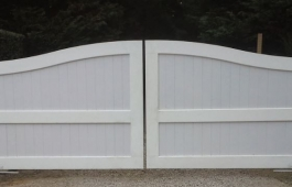 Double Drive Estate Gate with Internal Steel Frame