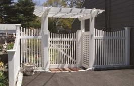 Pergola with Custom Gate