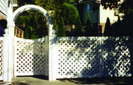 Lattice Fence & Scalloped Arbor Gate